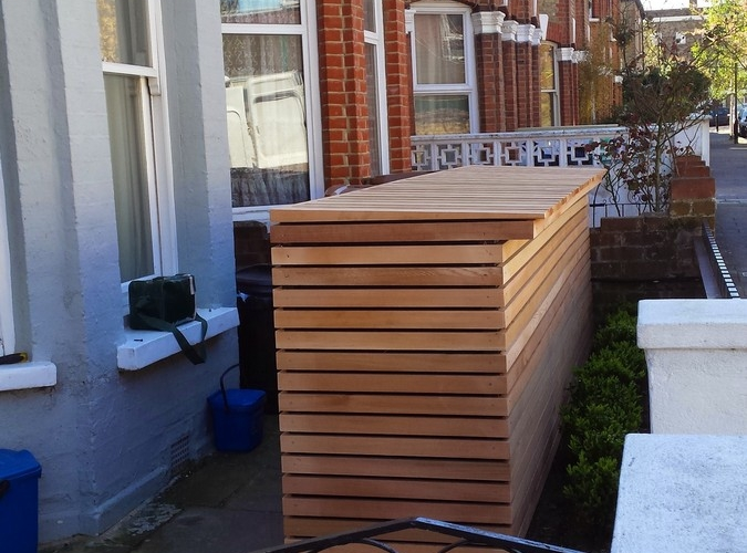 Cedar bike storage & Cedar bike storage - Landscapers in London | Landscapers in London