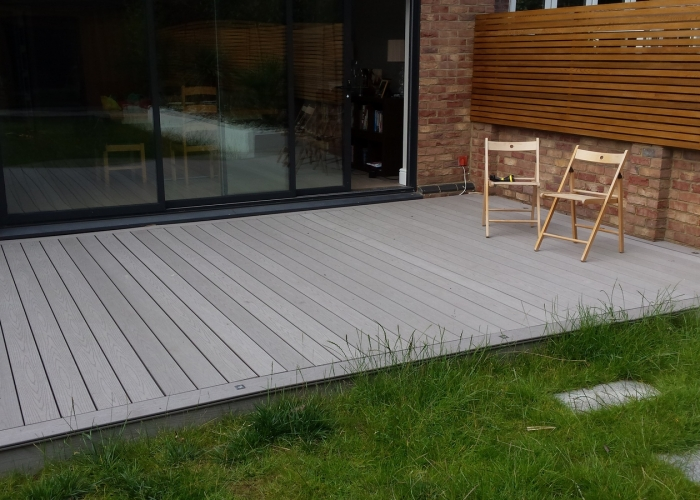 Composite decking installation