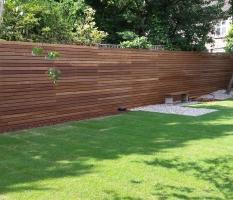 Hardwood fencing